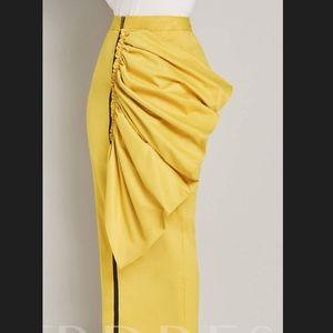 Yellow zipper front maxi skirt BRAND NEW!